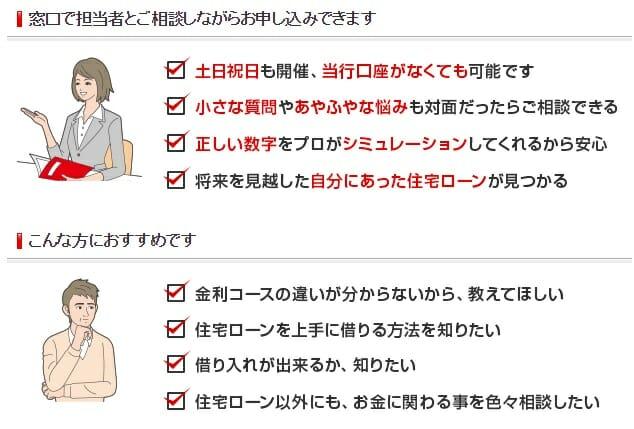 三菱UFJ銀行の店舗で住宅ローンを申し込むメリット