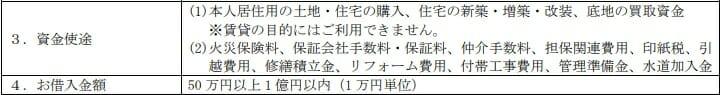みずほ銀行の住宅ローンの資金用途