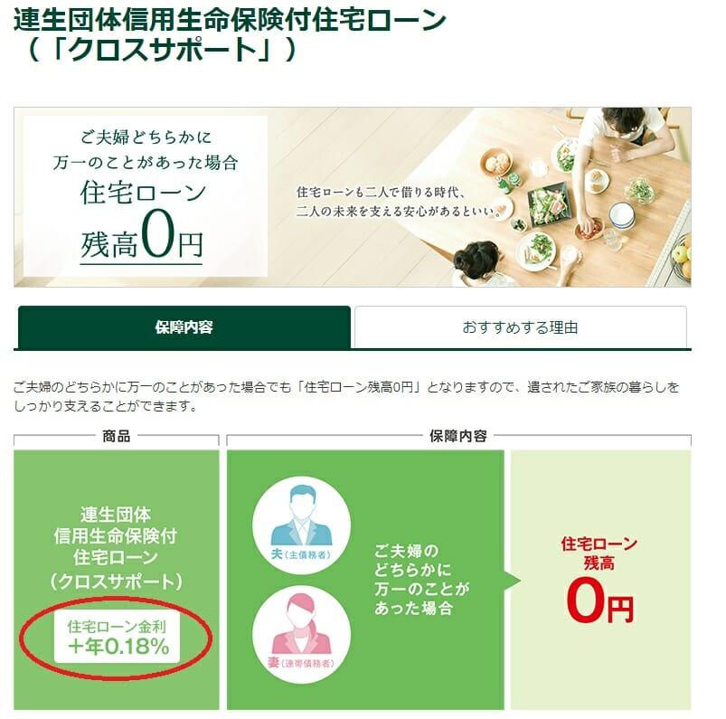 三井住友銀行の住宅ローンの連生団信