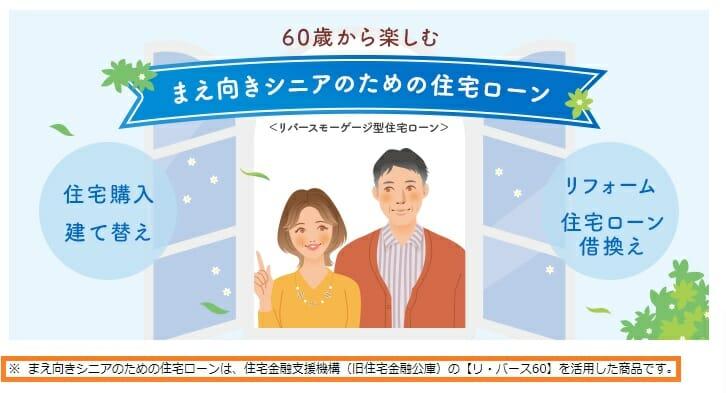 新生銀行のリバースモーゲージ(リ・バース60)
