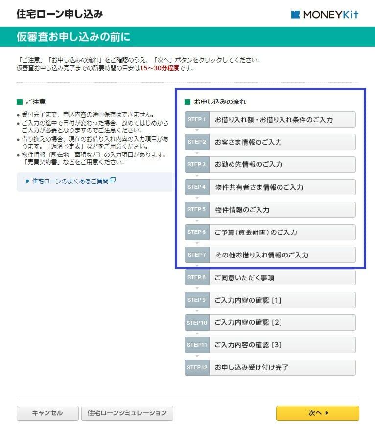 ソニー銀行の住宅ローンの仮審査
